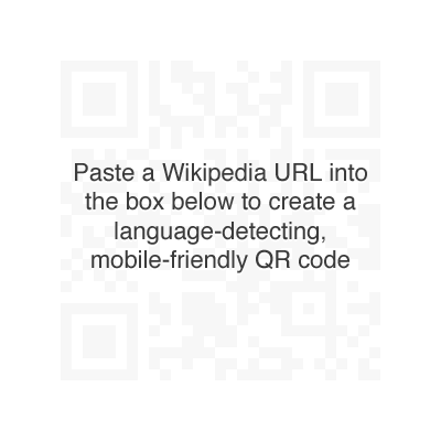 Paste a Wikipedia URL into the box below to create a language-detecting mobile-friendly QR code